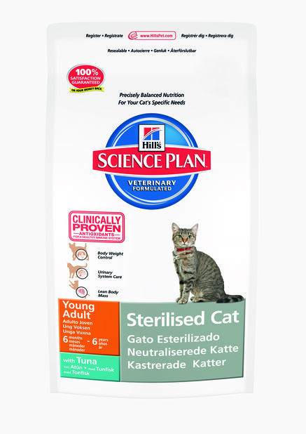 Hill's SP Sterilised Cat Young Adult Kattefôr med tunfisk , 1.5 kg, Hvit