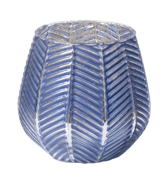 Telysholder Bianca, Høyde 10 cm, Blå
