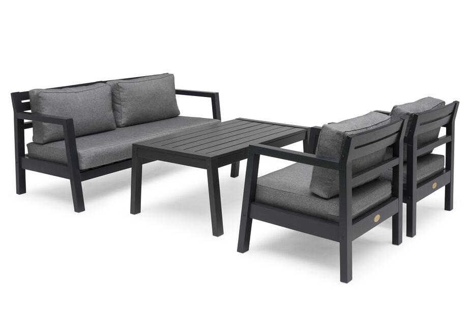 Sofagruppe Steltö , 4 sitteplatser, Svart