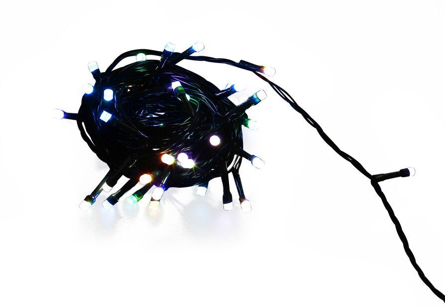 Lyslenke Ola 100 LED-lys 3 farger, Lengde 10 m, Flerfarget