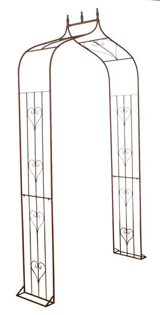 Roseportal, Høyde 240 cm, Rust