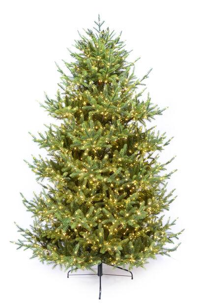 Kunstig juletre Glittertind, Høyde 210 cm, Grønn