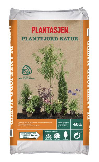 Økologisk plantejord, 40 L, Flere farger