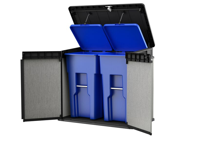 Oppbevaringsbod Elite Storage, 1150 L, Grå