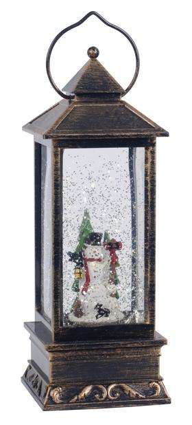 Lykt snømann LED-lys, Høyde 25 cm, Flerfarget