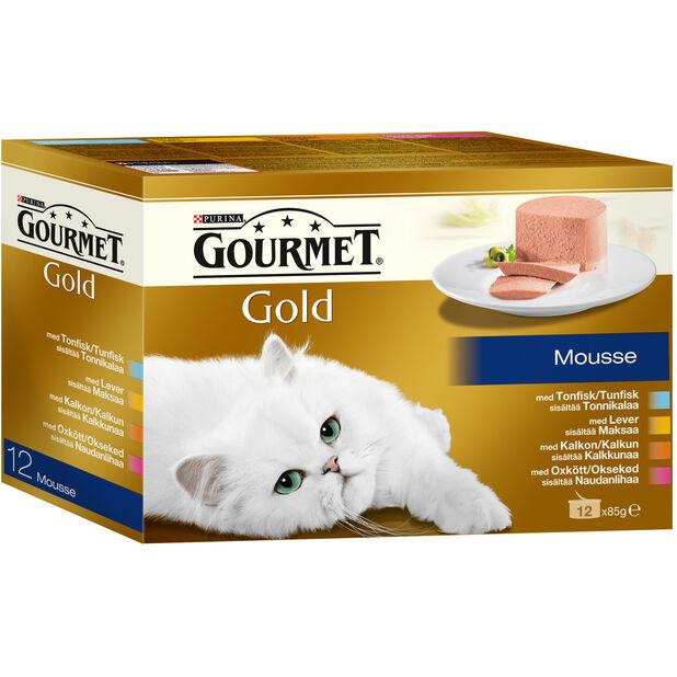 Gourmet Gold Mousse 12x85g, 85 g, Flerfarget