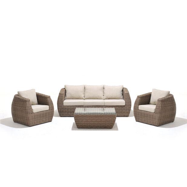 Sofagruppe Galan, 5 sitteplatser, Brun