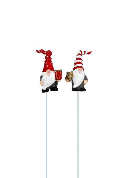 Julenisse på pinne, Høyde 6 cm, Flere farger