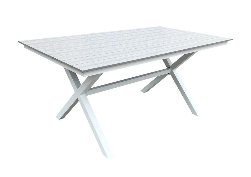 Spisebord Chelsea, Lengde 160 cm, Hvit