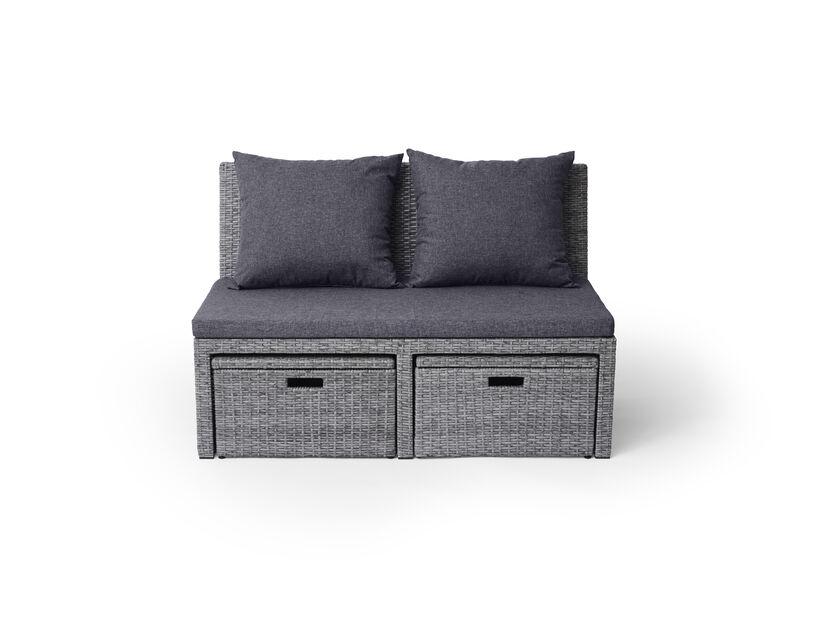 Sofagruppe Emma, Bredde 116 cm, Grå