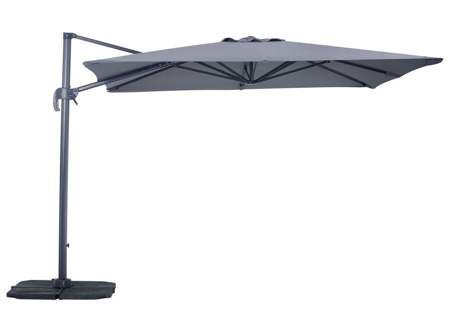 Parasoll Roma, Lengde 300 cm, Grå