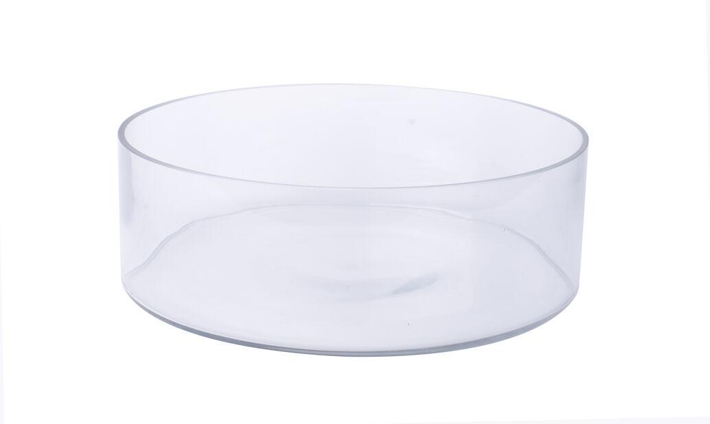 Skål glass Ø30 cm transparent