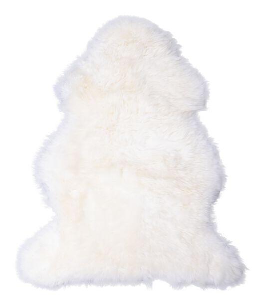 Saueskinn, Lengde 110 cm, Hvit