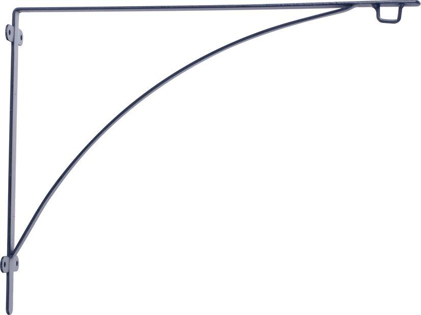 Veggbrakett Aldora, Lengde 40 cm, Svart