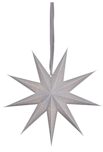 Julestjerne Gloria med LED-belysning, Lengde 60 cm, Sølv