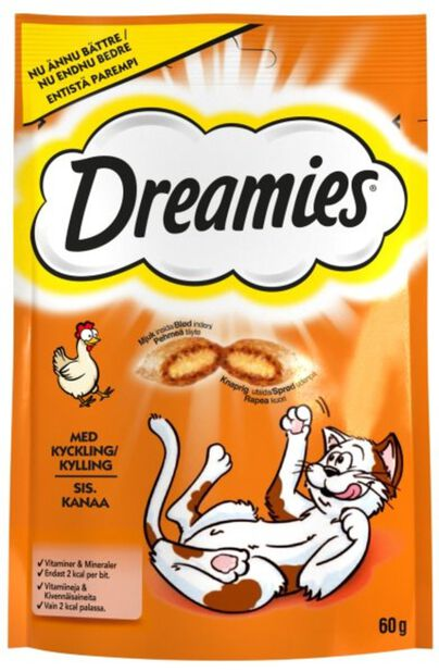 Dreamies kattesnacks kylling , 60 g