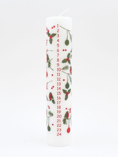 Kalenderlys kubbelys 25 cm