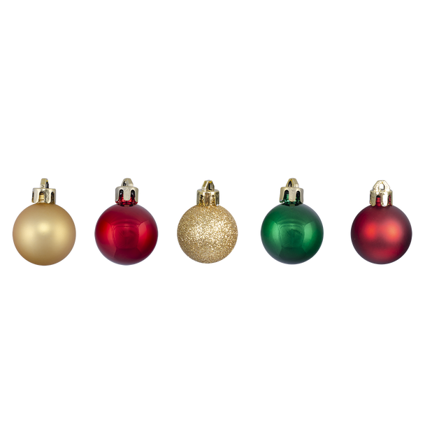 Juletre ornament 20 pk, Ø3 cm, Rød