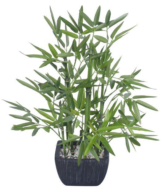 Bambus kunstig i potte, Høyde 46 cm, Grønn