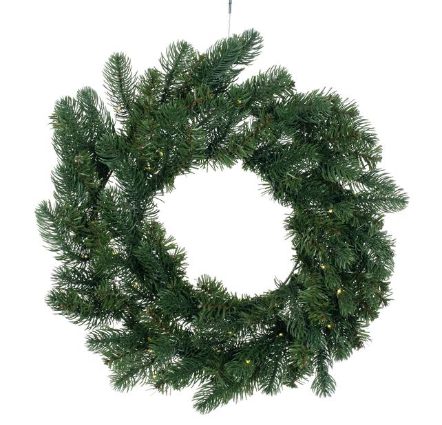 Grankrans Mora med belysning, Ø50 cm, Grønn