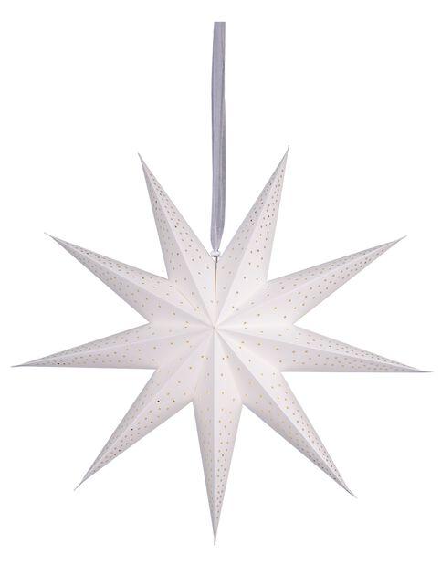 Julestjerne Minimalist, Lengde 75 cm, Hvit