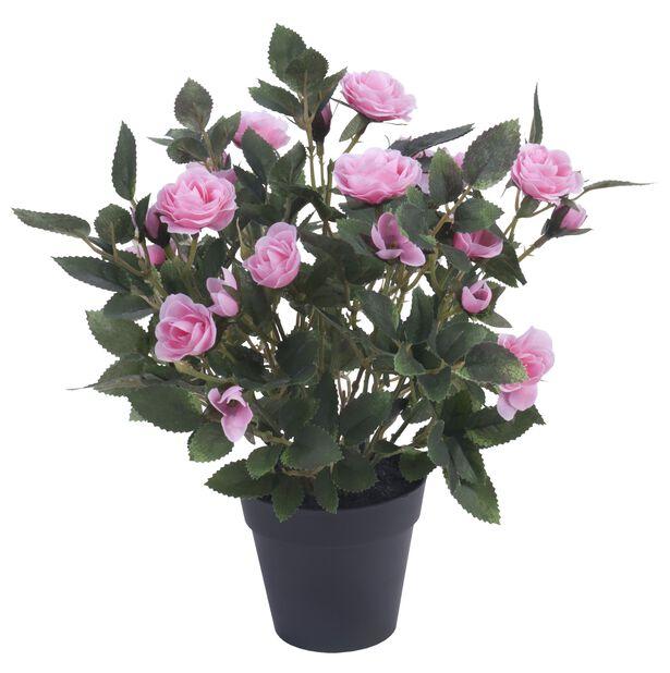 Rose kunstig, Høyde 30 cm, Rosa