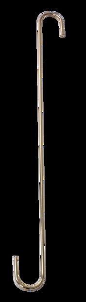 Oppheng S-krok L , Lengde 40 cm, Messing