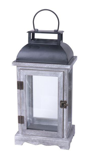 Lanterne Viktor, Høyde 33 cm, Grå