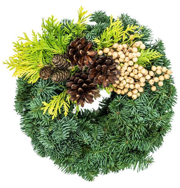 Gravkrans edelgran, Ø25 cm, Grønn