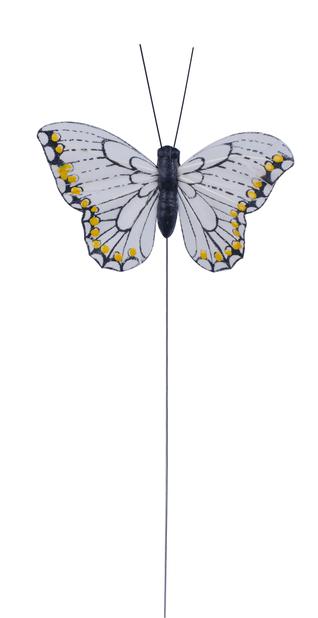 Dekorasjonspinne sommerfugl, Høyde 15 cm, Flere farger