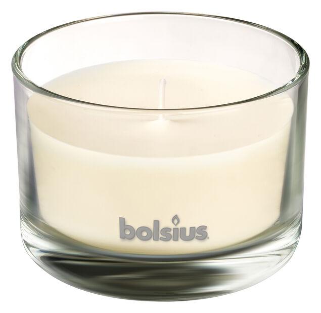 Duftlys Vanilje, Høyde 6 cm, Hvit