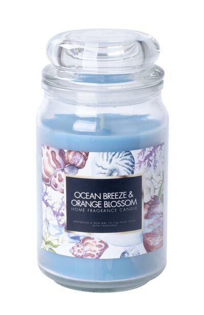 Duftlys Ocean breeze, Høyde 18 cm, Blå