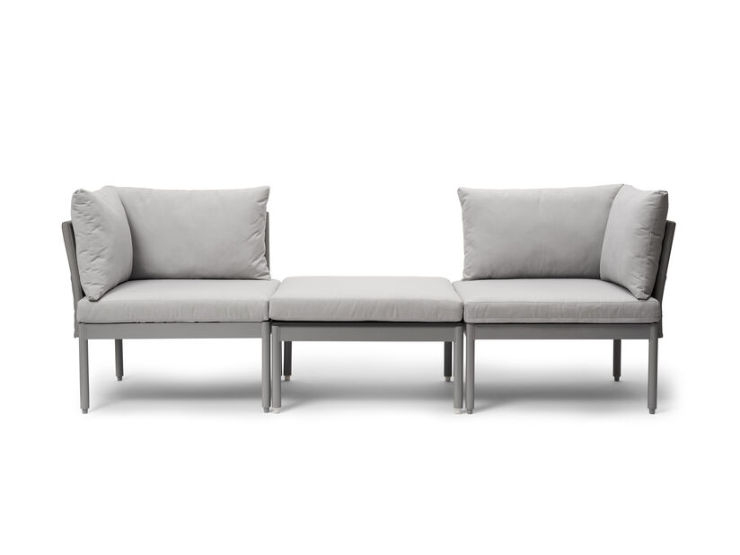 Sofa Seattle, 3 sitteplatser, Grå