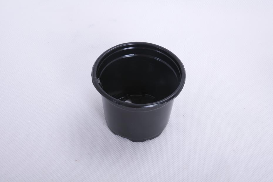 Plastpotte rund  , Ø9.5 cm, Svart