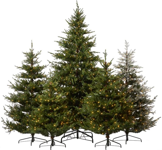 Kunstig juletre Langfjella med lys, Høyde 180 cm, Grønn