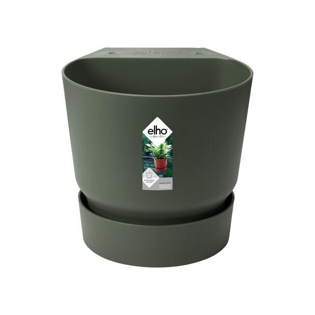 Potte GreenVille for balkongrekkverk, Ø23 cm, Grønn