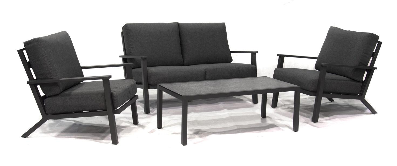 Sofagruppe Montana, 4 sitteplatser, Svart