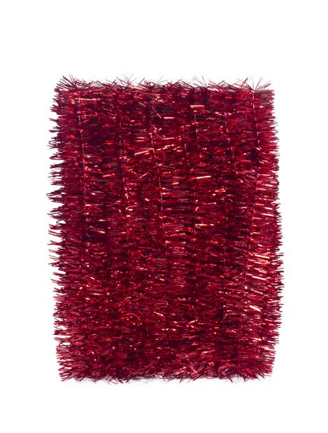 Juletre glitter, Lengde 5 m, Rød