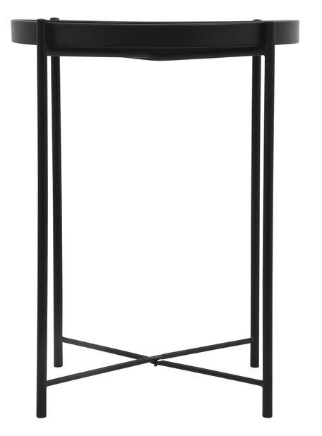 Sidebord Loke, Ø38 cm, Svart