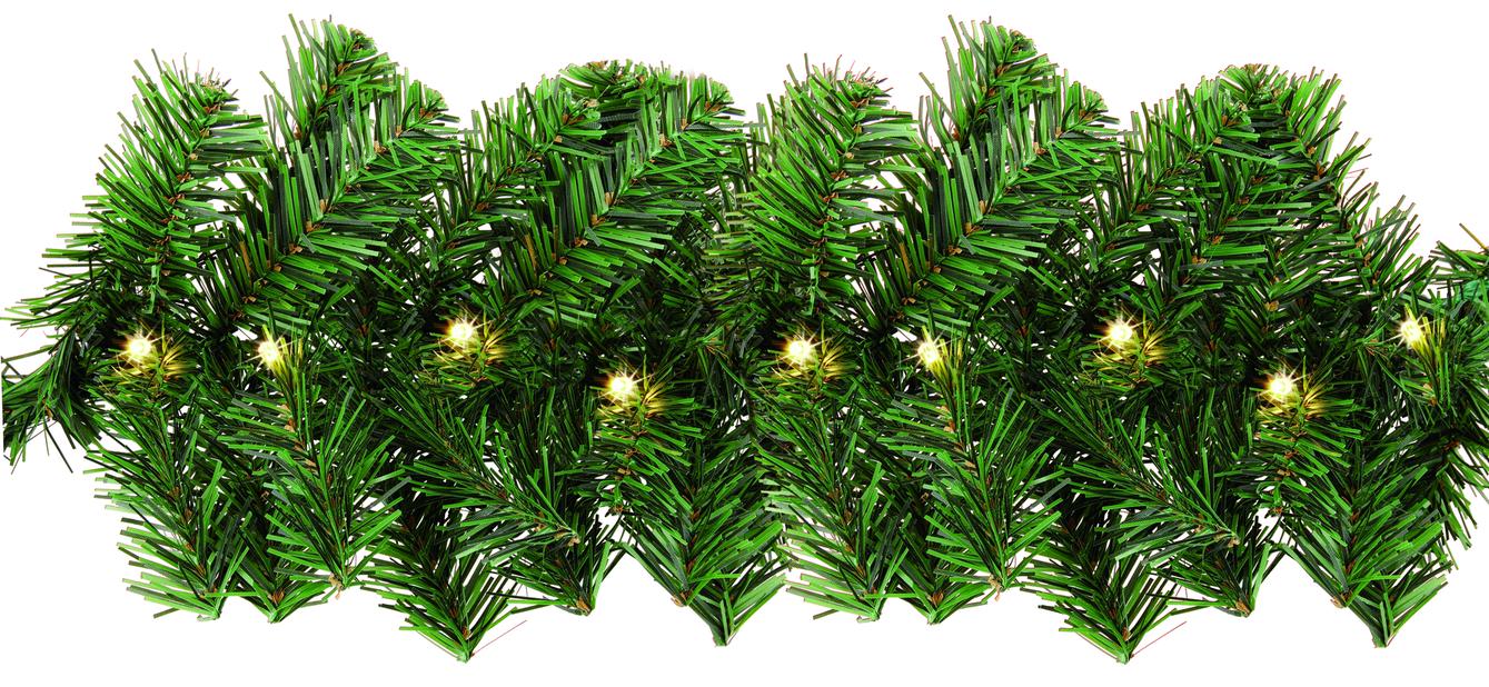 Lyslenke Ola Girlander 100 LED-lys, Lengde 40 cm, Svart