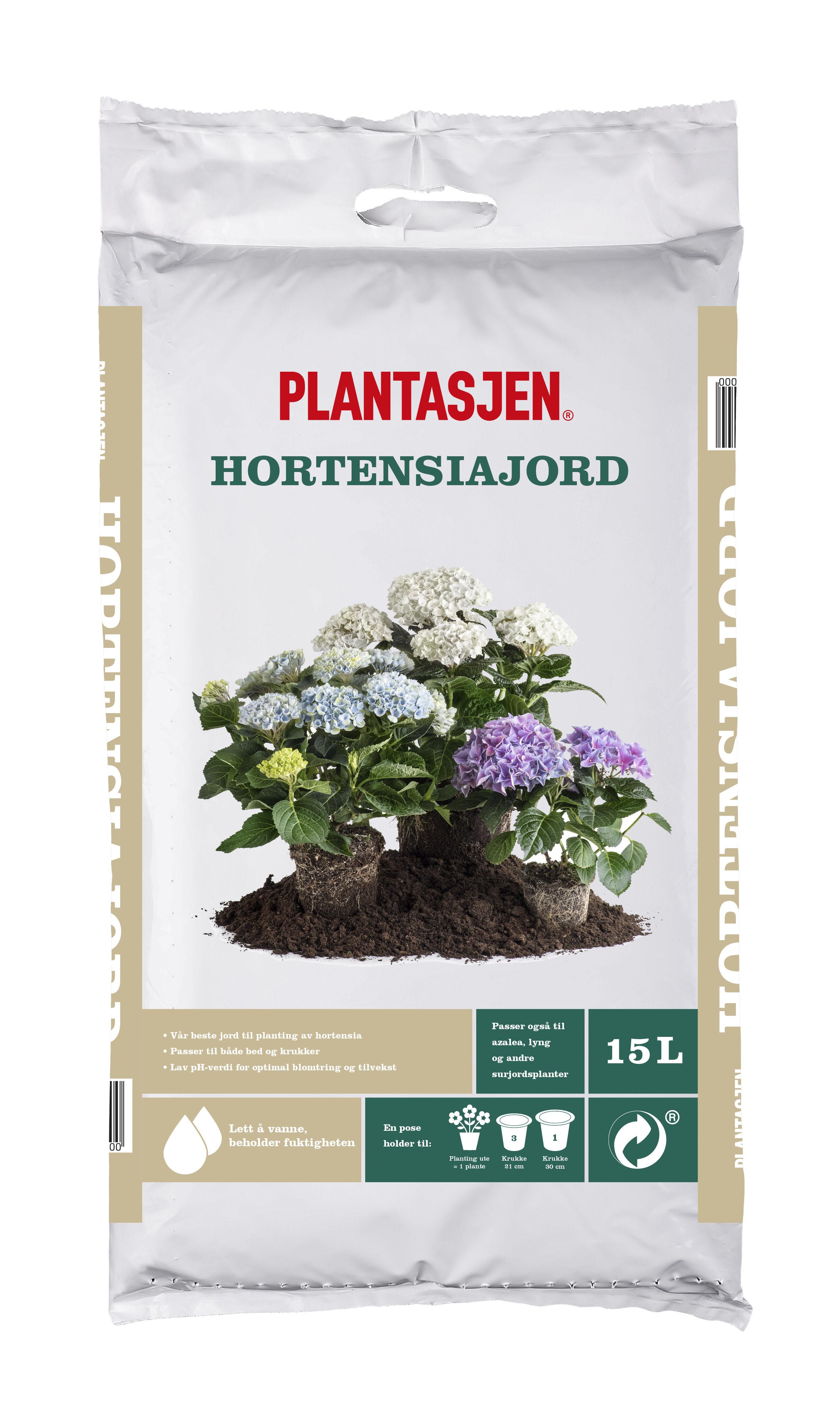 plantejord til hortensia