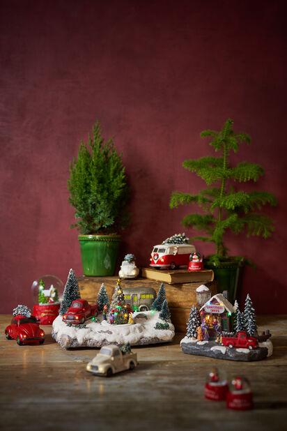 Gammeldags julebil, Høyde 7 cm, Rød