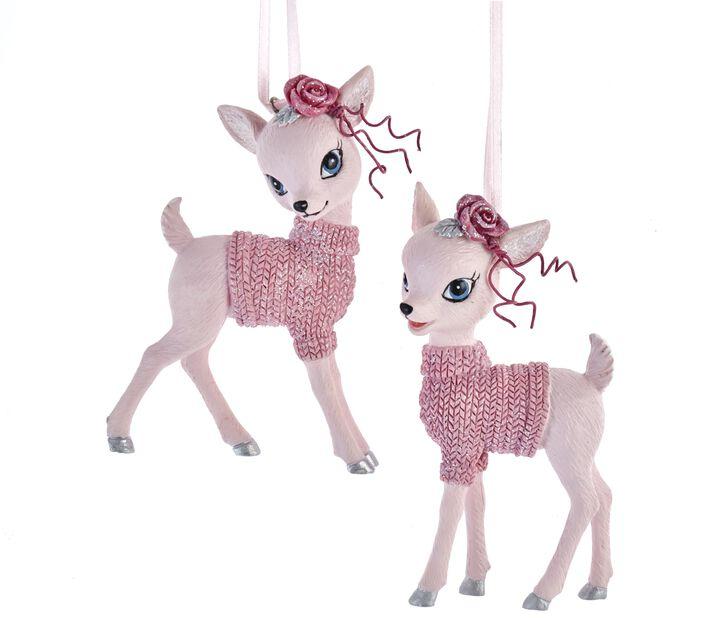 Juletrepynt Bambi, Høyde 10 cm, Rosa