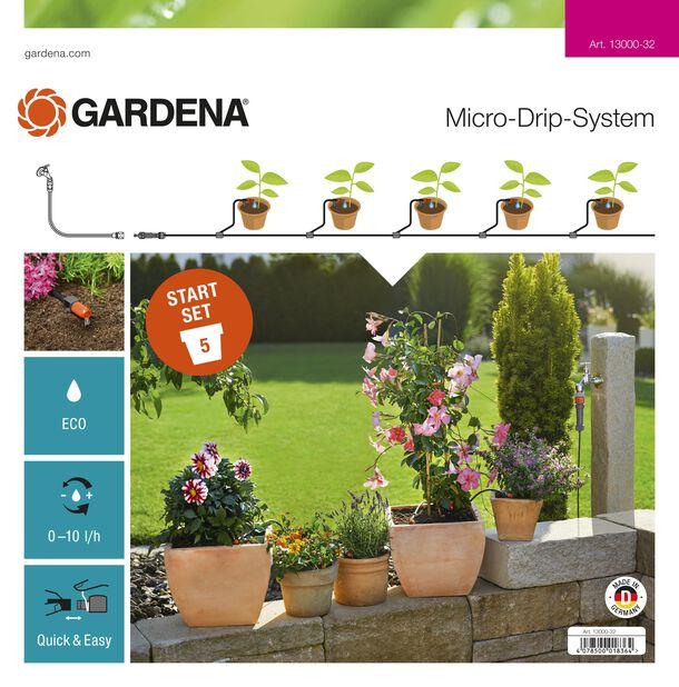 Startsett for dryppvanning av blomsterpotter Gardena
