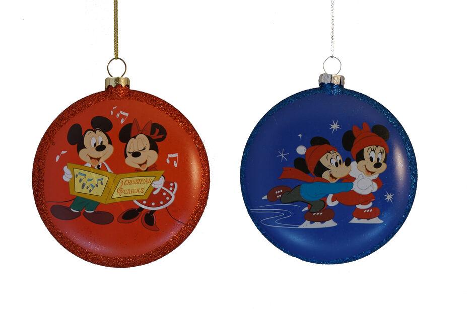 Juletrepynt Disney julekuler i glass, Høyde 10 cm, Flerfarget