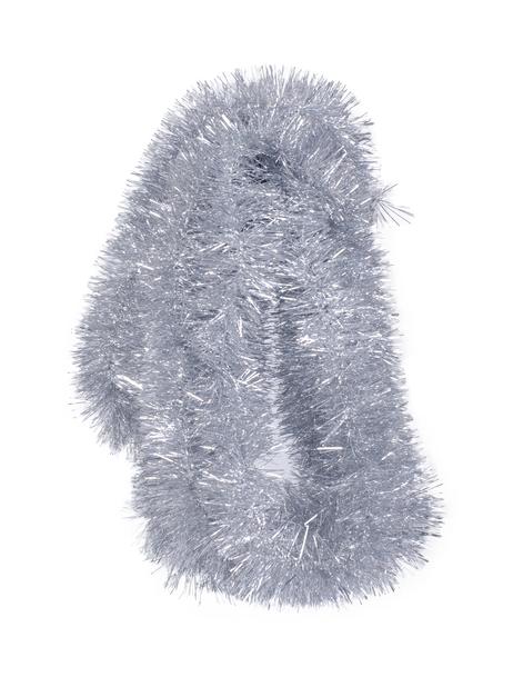Juletre glitter, Lengde 5 m, Sølv