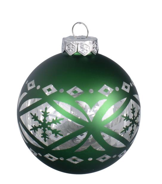 Juletre pynt Folklore, Ø8 cm, Grønn