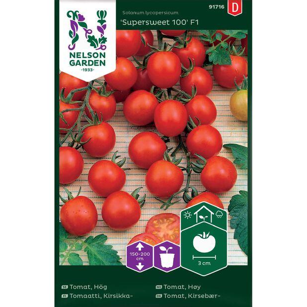 Cherrytomat 'Supersweet 100', Flerfarget