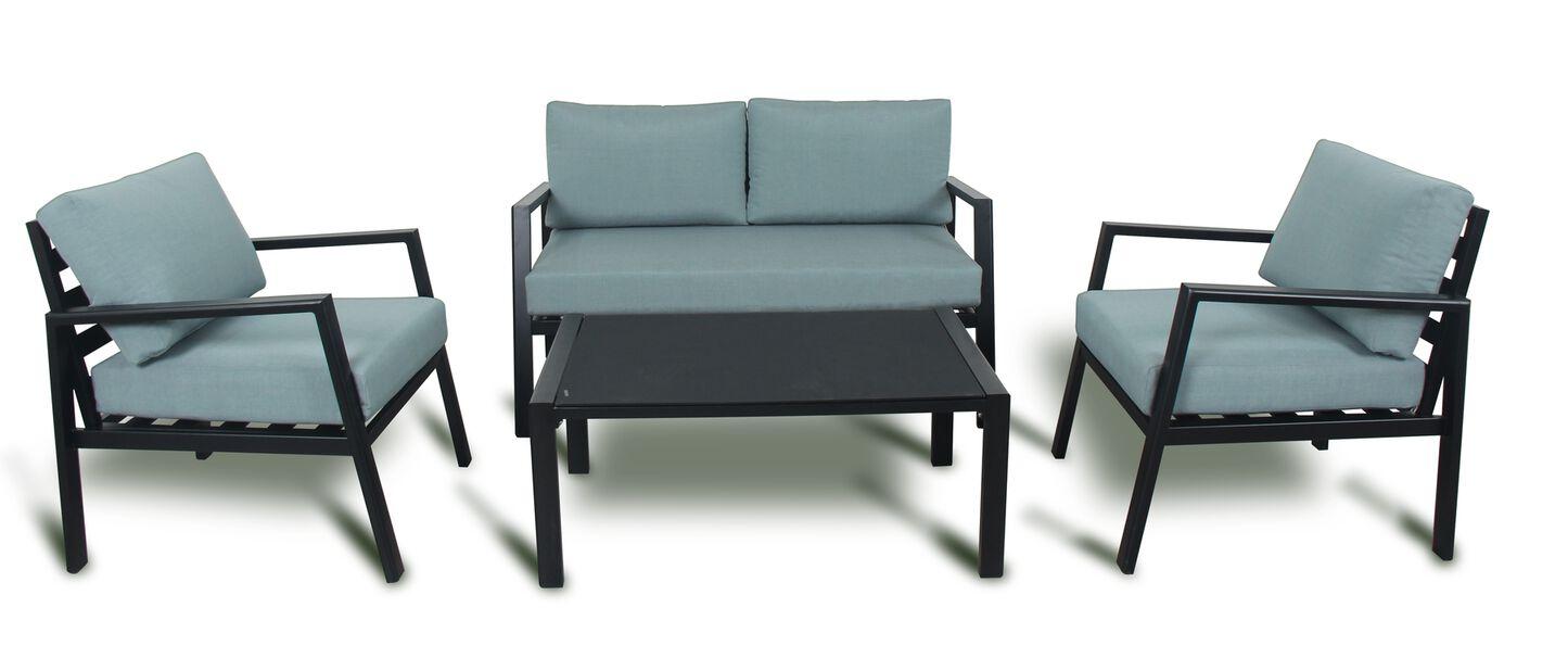 Sofagruppe Leeds, 4 sitteplatser, Grønn