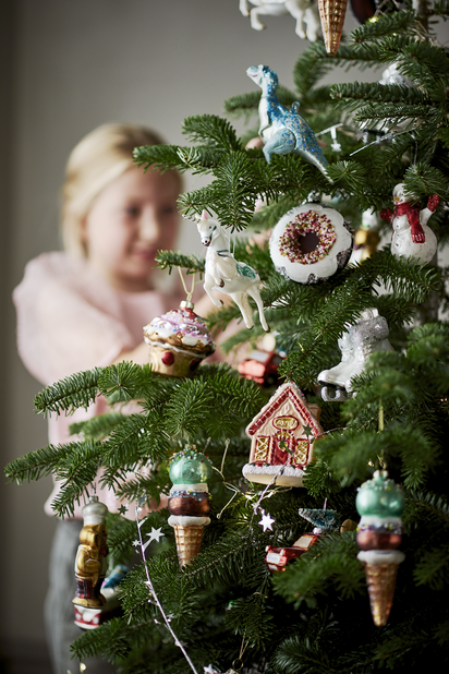 Juletrepynt Skøyter, Høyde 11 cm, Hvit